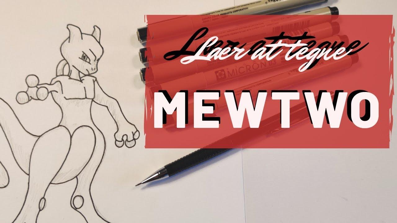 Alle kan Tegne - Lær at Tegne Mewtwo - Lennart Tegner