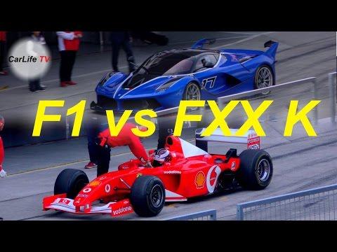 F1 vs FXX K エンジンサウンド対決!