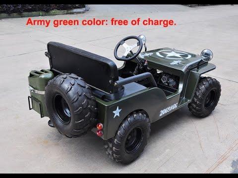 Fabelaktig Mini Jeep Willys Test Running in Workshop - YouTube FI-17