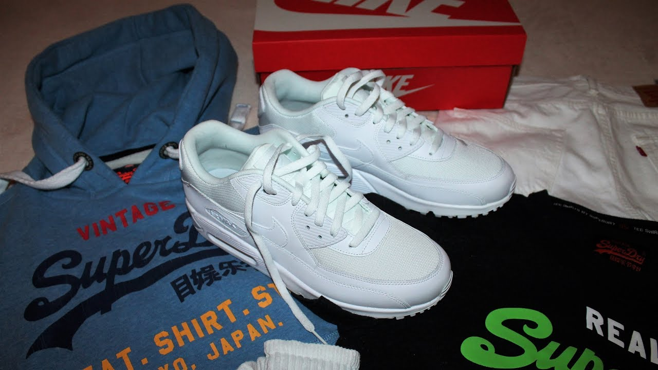 53185140a0b muddy sunday part 1 (white levis jeans, nike air max, superdry tops)