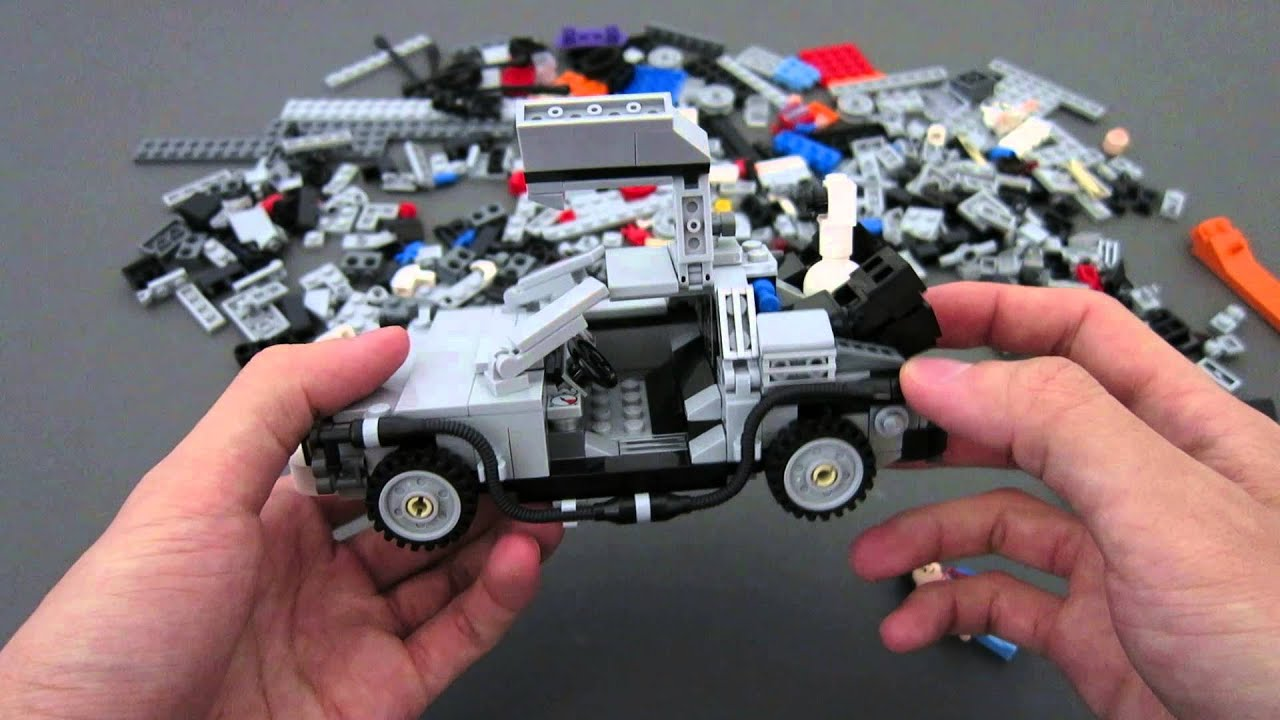 Review 21103 Lego Back To The Future Delorean Youtube