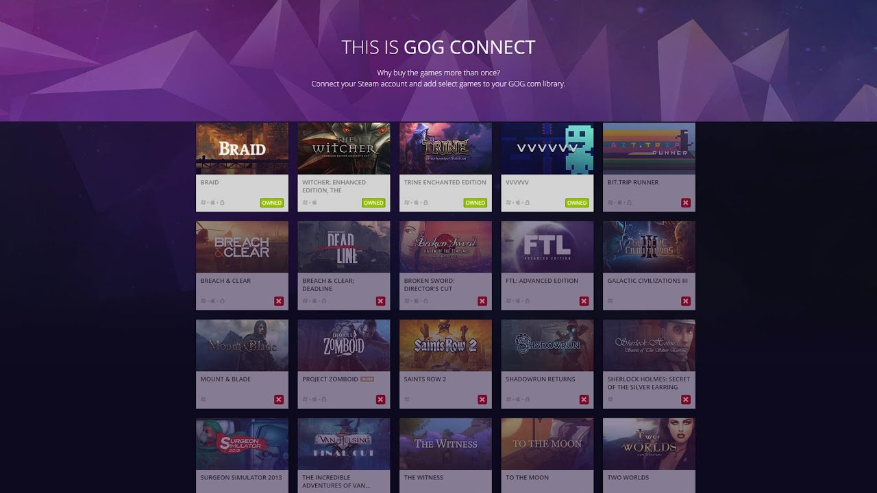 Gog Connect Spiele
