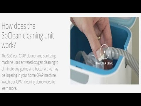 Try soclean cpap cleaner and Sanitizer