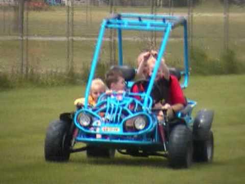 Kids Dune Buggy >> Kids In Go Kart - Carter Brothers Talon Dune Buggy 125cc - YouTube