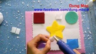 How to make Quiet books 5 - Hướng dẫn tự làm đồ handmade vải dạ nỉ cho bé