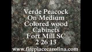 Granite Countertops Installed- Peacock-fortmill Sc- Medium Color Cabinets 2 26 13