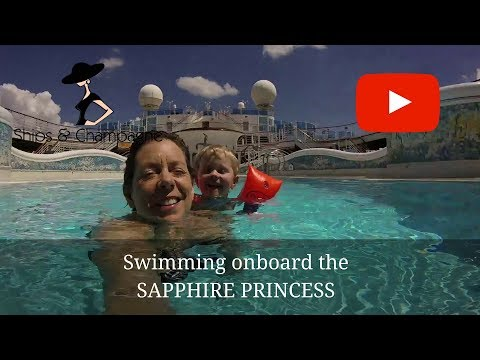 Family Swimming onboard Sapphire Princess May 2018