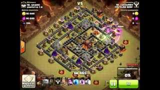 itaclanwar vs prototyp 7.0 - clan wars - clash of clans - th10 vs th10 - 3 stars