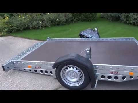 ALFA 12516SC lowering system for trailer, winch-driven, ground-level loading