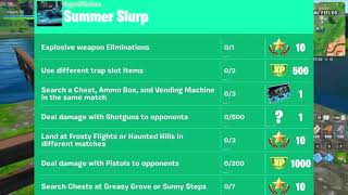 Urgent Mission Summer Slurp Guide - Leaked Challenges Fortnite - Week 7 Challenges
