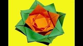 Роза из бумаги. Оригами - роза. Украшение для подарка. Подарок на день матери(Цветок из бумаги. Поделки из бумаги для украшения дома. Простой цветок - оригами. Подарок на день Матери,..., 2015-03-22T22:30:07.000Z)