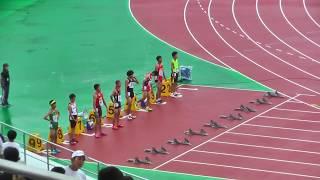 H29年度 学校総合 埼玉県大会 中学男子110mH予選1組 thumbnail