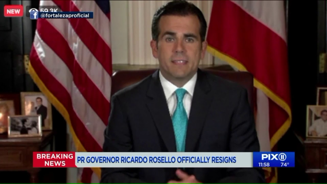Ricardo Rossell, Puerto Rico's Governor, Resigns After Protests