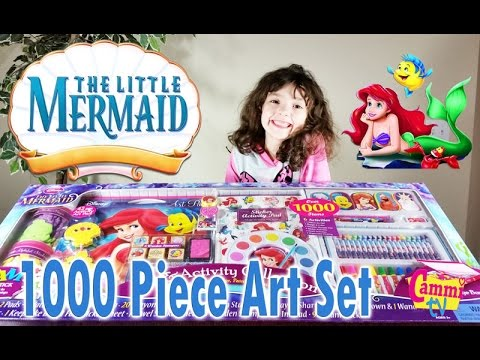 the little mermaid art activity collection stamps stickers paint 1000 pieces disney