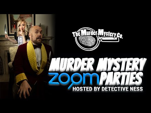 Murder Mystery Zoom Parties, Hosted by Detective Ness