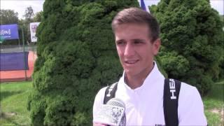 Vít Kopřiva po výhře ve druhém kole na turnaji Futures v Ústí n. O.