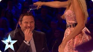 David gets a soaking from Alesha on BGMT | Britain