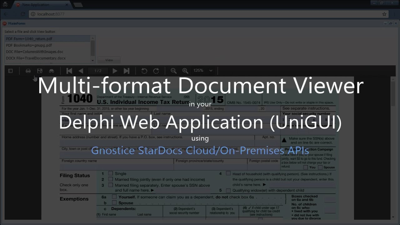 How to display PDF and Office documents in your Delphi Web Application  (UniGUI) using StarDocs