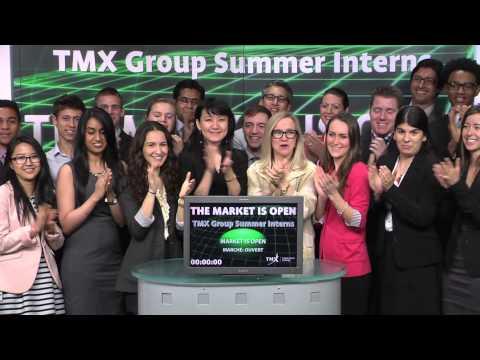 TMX Group Summer Interns open Toronto Stock Exchange, June 20, 2014.