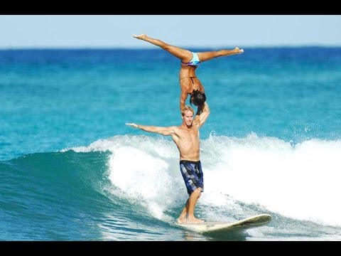 World Champion Tandem Surfers in Hawaii!