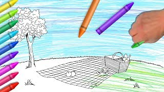 Drawings & Painting For Kids | Family Picnic Coloring Book | Learning Colors From Color World