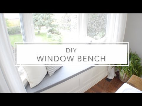 DIY Window Bench With Storage - The Home Depot