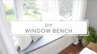 Click on the link below for the tutorial for this Window Bench with Storage: http://www.aburstofbeautiful.com/2016/10/diy-window-