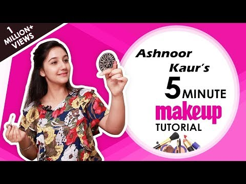 Ashnoor Kaur's Shares Her Everyday 5 Minute Makeup Tutorial | Exclusive Interview