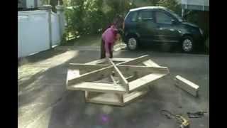 видео Стол своими руками: чертежи, как сделать из дерева