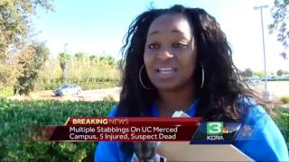 5 injured in stabbing at UC Merced; suspect killed by police