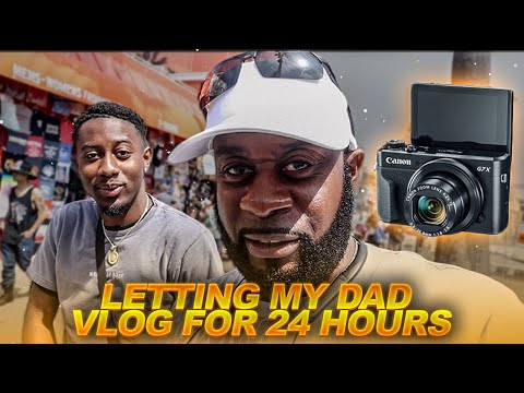 i GAVE MY DAD MY VLOG CAMERA FOR 24 HOURS...