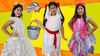 JP fez uma roupa especial para a Maria Clara ❤️ A new Dress for Birthday - Cool DIY Ideas