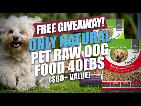 FREE GIVEAWAY! Only Natural Pet Raw Dog Food 40lbs ($80+ Value)
