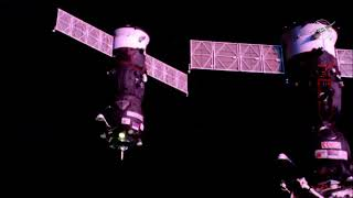 Russian Progress 72 Spacecraft Docks With Space Station