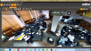 Пример работы панорамной IP видеокамеры Novus NVIP-5DN7021D/IR-2P