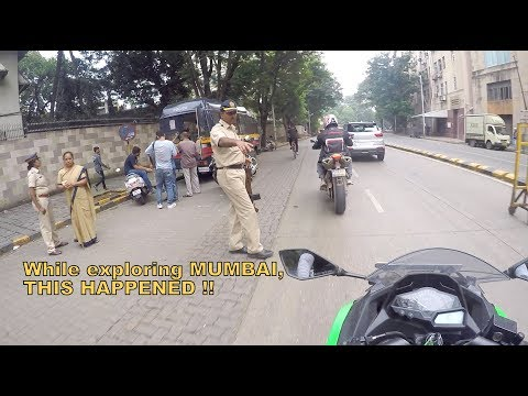 Stopped by Mumbai Police | Exploring Mumbai | Gateway of India | Marine Drive | Mumbai reactions-2