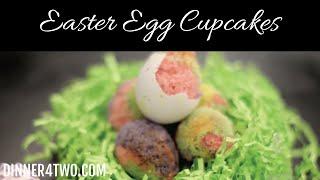 Easter Egg Cupcakes Baked In Egg Shells