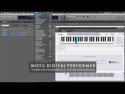 MOTU Digital Performer : Using Midi FX Plugins (e.g. Scalar, Xfer Cthulhu)