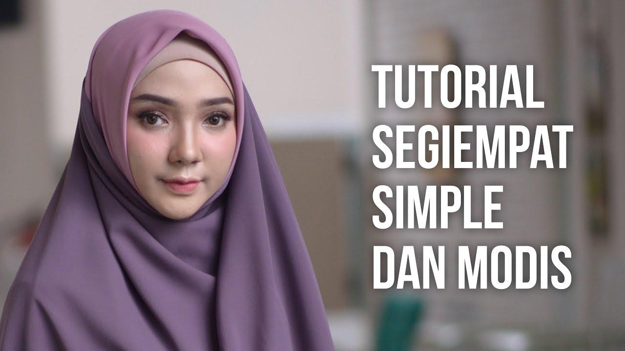 Tutorial Hijab Segi Empat Simple Dan Modis By Zawaya Hijab Youtube