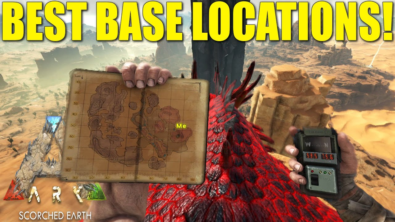 ark scorched earth best base locations youtube