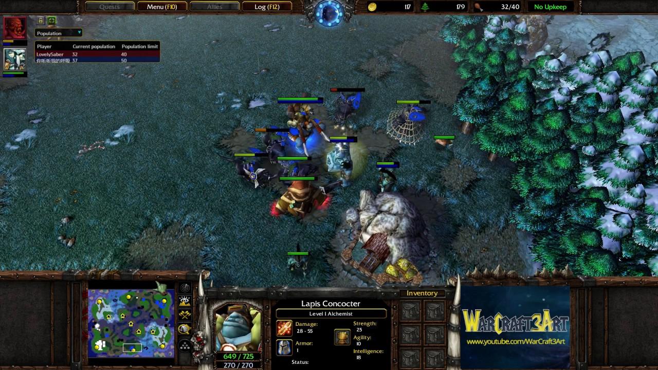 Moon Ne Vs Fast Orc Warcraft 3 Frozen Throne Rn4227 Youtube