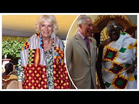 Charles & Camilla Continue Royal Visit Ghana - Camilla Receives Traditional Kente Robes