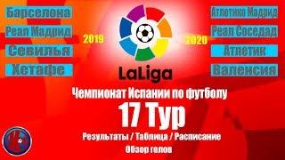 Футбол Ла Лига 2019 2020 Чемпионат Испании 17 тур Результаты Таблица Расписание