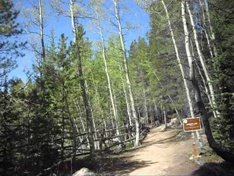 Three trail intersection at Staunton State Park, Colorado