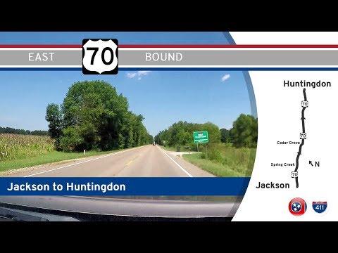 US Highway 70 - Jackson To Huntingdon - Tennessee    Drive America's Highways 🚙