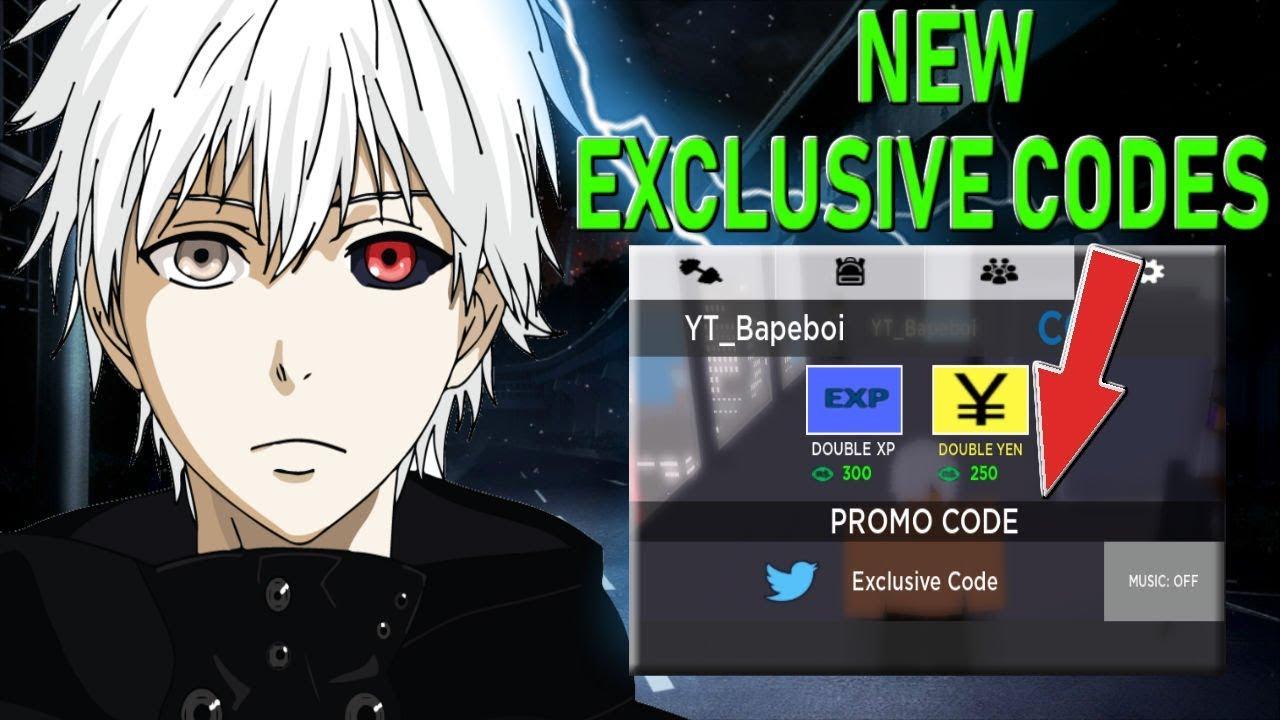 roblox tokyo ghoul bloody nights codes