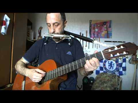 On top of old smokey- guitar,recorder,harmonica,voice :Val - YouTube