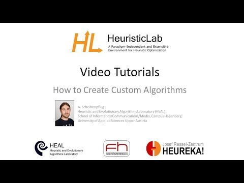 How to create Custom Algorithms in HeuristicLab