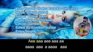 Kitna haseen chehra karaoke