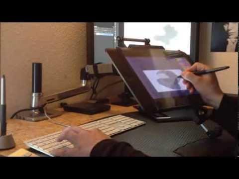 Wacom Cintiq13hd And Ergotron Lx Arm Diy Solution Youtube